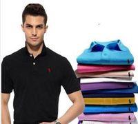 Горячие продажи Новые поло Мужчины высокого качества Крокодил вышивки логотип с коротким рукавом лето вскользь хлопка рубашки поло мужские