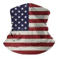 Bandera de los Estados Unidos STOCK Máscaras estadounidenses mantón de la bufanda de la sombrilla Diseñador Protección máscara máscaras cuello Sun mascarilla de la máscara de aire libre que monta anti bufanda de protección