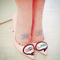 صوفيا ويبستر بوس سيدة براءات الاختراع والجلود مضخة أحذية نسائية جلد طبيعي أحذية مساء الحجم 35-42 الجناح الكعب العالي للإناث