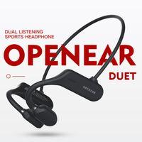 Bluetooth 5,0 Крюк уха Наушники AS3 Беспроводная гарнитура Bone Проводимость ж / микрофон для громкой связи IPX5 Водонепроницаемые наушники