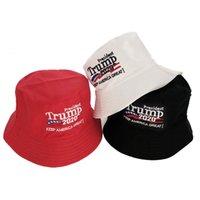 Trump Fisherman Cap Trump 2020 Präsident Wahl Stickerei Keep America Great Again Hut Außen Bucket Hat Party-Hüte LJJO8210