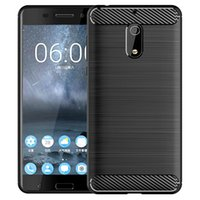 Carbon Fiber Shockproof Cover Protective Slim Fit Soft Silicone Case for Nokia 6 5 8 8.1 X6 X5 7 PLUS X7 9 PureView X3 X71 2V 7.1 3.1A 3.1C