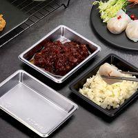 Jetable Sushi plat sauce soja Rectangle Salade Trempettes Conteneurs Plate restaurant à emporter Paquet plat KKA7982