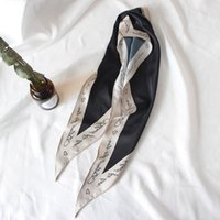 18 Muster-Druck-Schal für Frauen Kopfverband wie Seide Damen Festival Handkerchief Tücher 35 * 120cm Halstücher