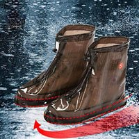 New Outdoor Rain Shoes Boots Covers Waterproof Slip-resistant Overshoes Galoshes Travel for Men Women 2PIRS/4PCS