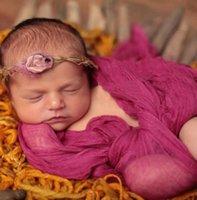 Baby Wrap Dehnbare Decke Polyester Wrap Neugeborenen Foto Shoot Swaddle Infant Fotografie Tuch Fotografie Requisiten Zubehör BT5575