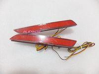 7月キング車の赤いLEDブレーキライト+ナイトランニングライトケース用ホンダフィットジャズ2011-2013、リアバンパー警告ライト
