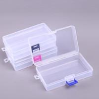 Durchsichtiger Kunststoff Aufbewahrungsbehälter-Behälter Werkzeuge Behälter Schrauben Nähen PP Box Transparent Komponente Schraube Jewelry Box SN1218