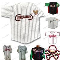 Men El Paso Chihuahuas Джерси Домашняя дорога Бейсбол Майки на заказ 100% Вышивка Белые Серые Рубашки сшиты