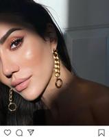 Мода Hoop Gold Серьги Aretes Orecchini Для Женщин Вечеринка Свадебные Любители Подарочные Ювелирные Изделия Обручали с коробкой