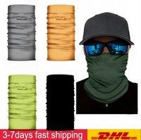 DHL Ship Soild Pure Color Full Scarf Bandanas Neck Masks Magic Motorcykel Cykel Face Mask Headband Cykelfiske Scarf Bandanas FY7136
