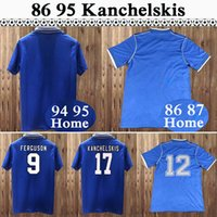 1994 1995 Kanchelskis Gascoigne Mens RETRO Maillots de football SPEED BRANCH FERGUSON Accueil Football Shirt 1986 1987 à manches courtes Uniformes Chemises