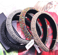 Trendy Baroque Luxury Full Colorful Crystal Hair Band Bling ...