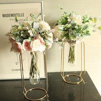 1pc artificiali fiori di seta del Peony della camelia Mini Wedding Bouquet di fiori Ortensia per la casa della decorazione del partito al coperto