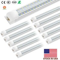 Shop light Cooler Door LED Integrated Tube 4FT 8FT LED T8 120W LED Tube Light V Shape D Shaped Fluorescent Tubes Lights