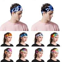 Tie-dye diadema hombres y mujeres deportes al aire libre Turbante Turbante de la yoga de las señoras de cosméticos Suministros sombreros del partido XD23716
