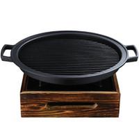 Tragbare Mini-Gusseisen BBG Grill Barbecue Grills Tischplatte Barbecue-Herd Teppanyaki Grills für Hotelrestaurant-Familie Einzige Paar 024-9