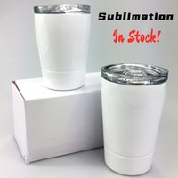 DIY Sublimation 12oz White Kid Mug with Lid Stainless Steel ...