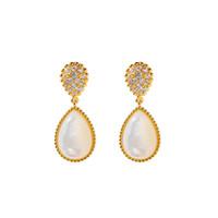 New autumn and winter set diamond drop agate fritillary brass earrings jewelry womens designer earrings diamond earrings