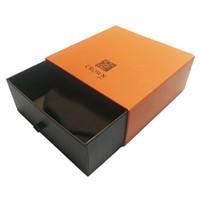 Fancy OEM logo Orange type tiroir rigide emballage boîte en carton cadeau