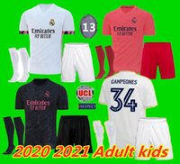 enfants adultes 19 20 21 Real Madrid Football kits Jersey 2020 2021 SERGIO RAMOS RISQUE JOVIC VINICIUS BENZEMA MODRIC football chemises enfant UNIFOR