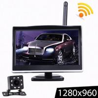2 Yollu Video Girişi ile 5 inç TFT LCD HD Ekran Kablosuz Araç Monitör Park Dikiz Monitör Renk Araba Dikiz Yedekleme Kamera hkND #