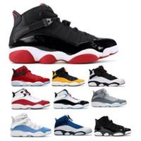 Дешевые 6 Колец мужских ботинок баскетбол Six 6S University Red Taxi Concord UNC Space Jam Разводят South Beach конфетти Корзинка Jumpman Sneaker обувь