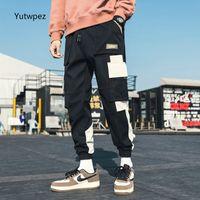 2020 Yutwpez multi hommes poches Pantalon cargo Harem Hip Hop Casual Pantalons Homme Pantalons Mode piste Joggers Harajuku hommes