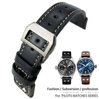 Véritable Watchband de Watchband pour les montres pilotes IWC Spitfire Le Petit Prince Big Pilot Watch Watch Edition Herit Mark18 Antoine 21 22mm Outils gratuits Hommes