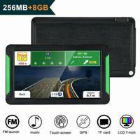 7 pollici navigatore GPS dispositivo portatile Navigator 8Gb-256Mb GPS Navi di navigazione mappe camion auto dell'automobile dello schermo di tocco odhx #