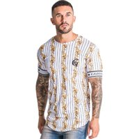 Mens Sports T-shirt Mens Quick-drying Striped Casual T-shirt 2020 Designer Breathable Fitness Short Sleeve Youth Fashion Striped Print Shirt