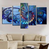 синий павлин перо современные холст картины абстрактного павлина животных картина маслом искусства стены модульные настенные картины