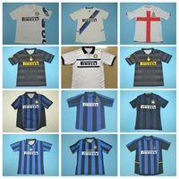 2000 2002 2007 INTER Vintage Soccer Milan Batistuta Ретро Джерси 20 Recoba 1 + 8 Zamorano 10 Adriano Ibrahimovic Cambiasssso Football Kits