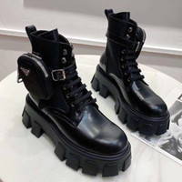 Hochwertige Mode schwarze Schnalle Reißverschluss kurze Ankle Booties Frauen echter Leder Martin Stiefel großer 35-41