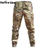 ReFire 기어 위장 전술 조깅 바지 남자 육군 전투 바지 바지 캐주얼 방수 패션화물 바지