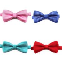 Детский Bow Tie Корейских сплошного цвета круглых точек связей Детский ювелирные изделия Воротник Isignina Bowknot Полиэстер окрашенная пряжа Ткань 2 5py B2