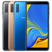 Samsung GALAXY A7 A7 2018 A750F Dual SIM SIM 6.0 pollici Octa Core da 4 GB RAM 64GB ROM 24MP sbloccato 4G LTE Smart Phone DHL 5pcs