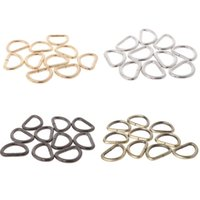 Luggage & Bags THINKTHENDO 10pcs 12 15 2 25 32 38mm Strap Buckle Inner Width Metal Half Round Shaped Non Welded D Ring DIY Bag Accessories