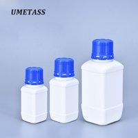 UMETASS 60ml / 100ml / 250ml Vide bouteille en plastique avec du bleu réactif laboratoire Couvercle récipient d'échantillon liquide HDPE 1PCS matériau
