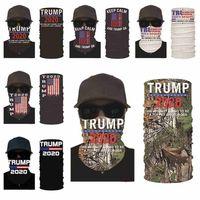 2020 Трамп Маска для лица Американские выборы Печать пылезащитные маски Открытый Велоспорт Волшебные шарфы Бандана Оголовье Дизайнерская вечеринка Маски Cyz2579