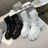 여성 화이트 블랙 플랫폼 마틴 부츠 캐주얼 플랫 두꺼운 솔 정품 가죽 신발 웨딩 전체 드레스 높은 버전 발목 높이 높이 6cm
