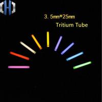 3.5 * 25MM الجديدة حجم الضوء التلقائي 210 سنوات متوهجة التريتيوم أنبوب DIY في الهواء الطلق أدوات qcMH #
