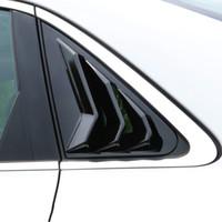 Decoração painel da janela de fibra de carbono traseira Triângulo Tampa Persianas Adesivos para Audi A4 B8 2009-2016 Car Styling Acessórios