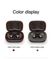ES02 Bluetooth TWS Wireless Earphone Stereo Leather or cloth...