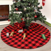 Arbre de Noël Arbre de Noël Jupe arbres tablier haut de gamme noir rouge Grille de Noël Jupe Tablier de Noël Ornements en gros