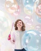 بوتيك جولة ملون بالونات شفافة بوبو بالون الكرة بالونات الشفافة حزب زينة الزفاف الاطفال لعبة بيع A41002