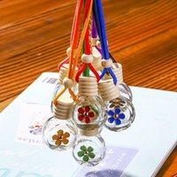 8-10ML 매달려 자동차 향수 꽃 디퓨저는 공기 청정기 유리 에센셜 오일 병 자동차 장식 파티 선물 병 병 HH9-3135