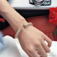 Hot Internet Prominente Schraube Volle Bohrer Nägel Armband Gold Armbänder Frauen Armreifen Punk Für Beste Geschenk Luxuriöse Superior Qualitätsschmuck
