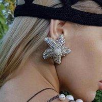 Elmas elmas taklidi denizyıldızı küpe kadın abartılı mizaç küpe alaşım Moda beş köşeli yıldız