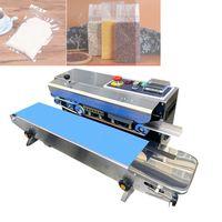 220V / 50HzFast máquina de sellado automático continuo de la máquina de sellado de bolsas de plástico de Cine de la máquina de embalaje de alimentos inflado con la impresión Fecha